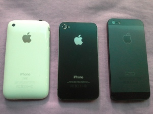 back iPhone3G, iPhone4, iPhone5
