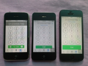 phone dial pad: iPhone3G, 4, 5