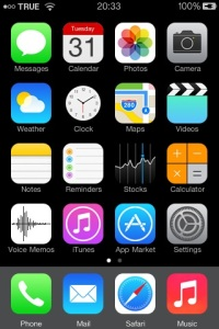 iPhone 3G home screen 1st