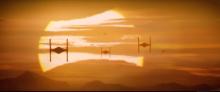 Tie Fighter sunset